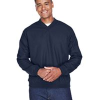 Adult Long-Sleeve Microfiber Crossover V-Neck Wind Shirt Thumbnail